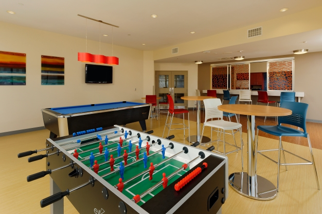 Fooseball, Pool Tables, Flat Screens - Great amenities for any college student